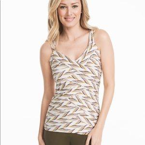 WHBM sleeveless zigzag shell top size large